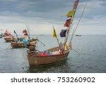 thai fishing boats on the ocean | Shutterstock . vector #753260902