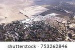 aerial shot of big valley with... | Shutterstock . vector #753262846