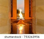 the eternal flame monument on... | Shutterstock . vector #753263956