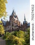 the beautiful drachenburg... | Shutterstock . vector #753274312