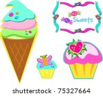 yummy sweets | Shutterstock .eps vector #75327664