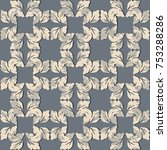 seamless damask pattern.... | Shutterstock .eps vector #753288286