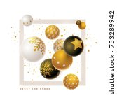 abstract christmas and new year ... | Shutterstock .eps vector #753289942