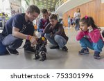 Small photo of Kiev, Ukraine - September 30, 2017: Children get acquainted with robotics at the festival of STEM-education