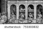 saint denis  france   july 02 ... | Shutterstock . vector #753303832