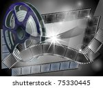 cinema concept .vector.eps10   Shutterstock .eps vector #75330445