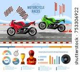 motorcycle races banner ... | Shutterstock .eps vector #753306922