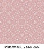 abstract seamless vector... | Shutterstock .eps vector #753312022