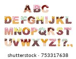 candy sweet chocolate font. ice ... | Shutterstock .eps vector #753317638