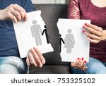 break up  divorce  shared...   Shutterstock . vector #753325102