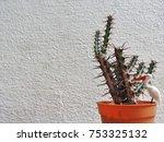 background of cactus | Shutterstock . vector #753325132