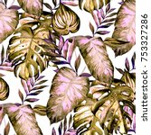 watercolor seamless pattern...   Shutterstock . vector #753327286
