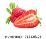 strawberry isolated on white... | Shutterstock . vector #753335176