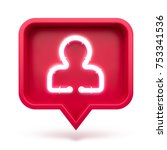 profile icon on a red pin... | Shutterstock . vector #753341536