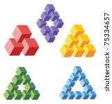 unreal geometrical symbols from ... | Shutterstock .eps vector #75334657