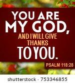 Thanksgiving Psalm 118 28