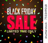 black friday sale background  ... | Shutterstock . vector #753349018