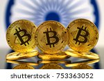 physical version of bitcoin ... | Shutterstock . vector #753363052