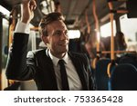 smiling young businessman... | Shutterstock . vector #753365428