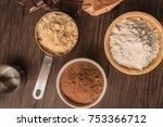 Muffins Baking Ingredients On...