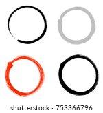 hand drawn zen circle... | Shutterstock .eps vector #753366796
