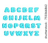 flat style ocean font with... | Shutterstock .eps vector #753366862