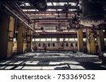 abandoned metallurgical... | Shutterstock . vector #753369052