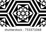black and white geometric... | Shutterstock . vector #753371068