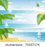 shiny seaside banners | Shutterstock .eps vector #75337174