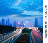 through the city's roads and... | Shutterstock . vector #75337225