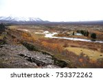 silfra is a rift formed in the... | Shutterstock . vector #753372262