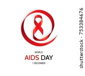 red ribbon  world aids day... | Shutterstock .eps vector #753384676