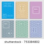collection of sale banners ... | Shutterstock .eps vector #753384802