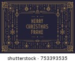 merry christmas card template... | Shutterstock .eps vector #753393535
