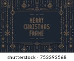 merry christmas card template... | Shutterstock .eps vector #753393568