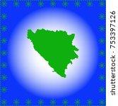 map of bosnia and herzegovina | Shutterstock .eps vector #753397126