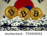 physical version of bitcoin ... | Shutterstock . vector #753403042