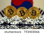 physical version of bitcoin ... | Shutterstock . vector #753403066