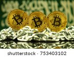 physical version of bitcoin ... | Shutterstock . vector #753403102