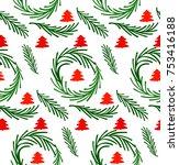 christmas seamless background. | Shutterstock .eps vector #753416188