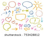 Crayon Drawing Speech Bubbles ...