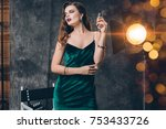 young stylish sexy woman on... | Shutterstock . vector #753433726