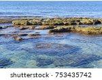greece  landscape of the sea...   Shutterstock . vector #753435742
