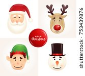 christmas character face... | Shutterstock .eps vector #753439876