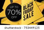 black friday sale banner design ... | Shutterstock .eps vector #753449125