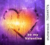 valentine's day abstract... | Shutterstock . vector #753449776