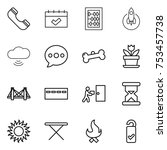 thin line icon set   phone ...   Shutterstock .eps vector #753457738