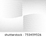 abstract halftone wave dotted... | Shutterstock .eps vector #753459526