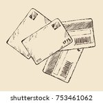 blank personal data paid value... | Shutterstock .eps vector #753461062