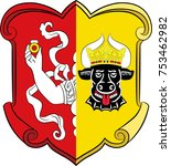 coat of arms of neustrelitz is... | Shutterstock .eps vector #753462982